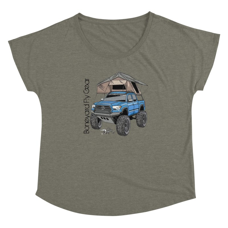 Toyota Tacoma Overlander Women's Dolman Scoop Neck by Boneyard Studio - Boneyard Fly Gear