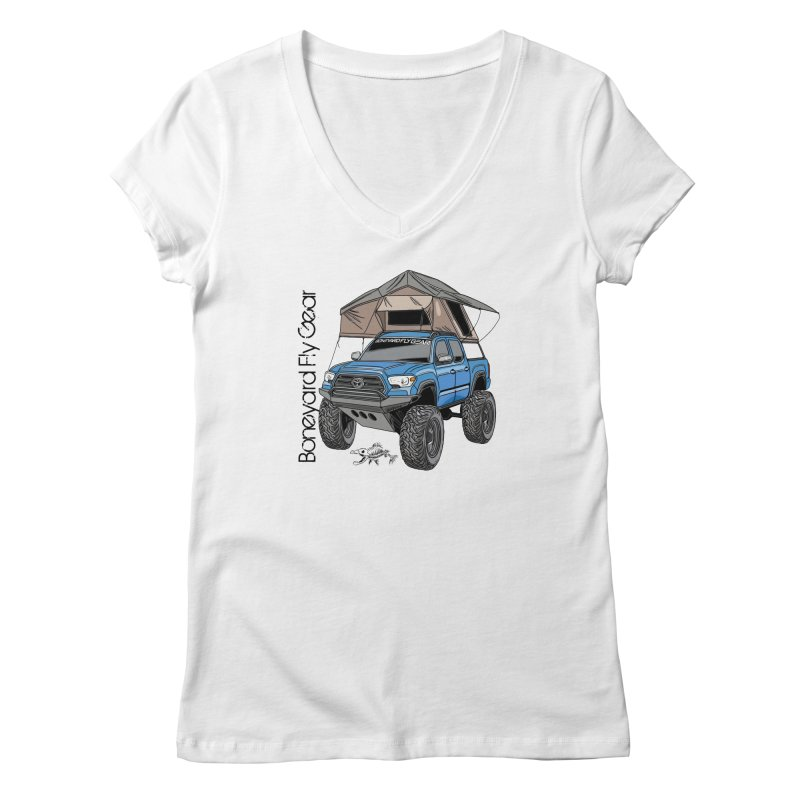 Toyota Tacoma Overlander Women's Regular V-Neck by Boneyard Studio - Boneyard Fly Gear