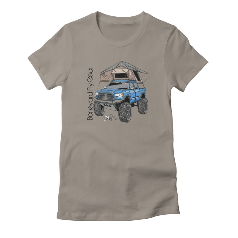 Toyota Tacoma Overlander Women's Fitted T-Shirt by Boneyard Studio - Boneyard Fly Gear