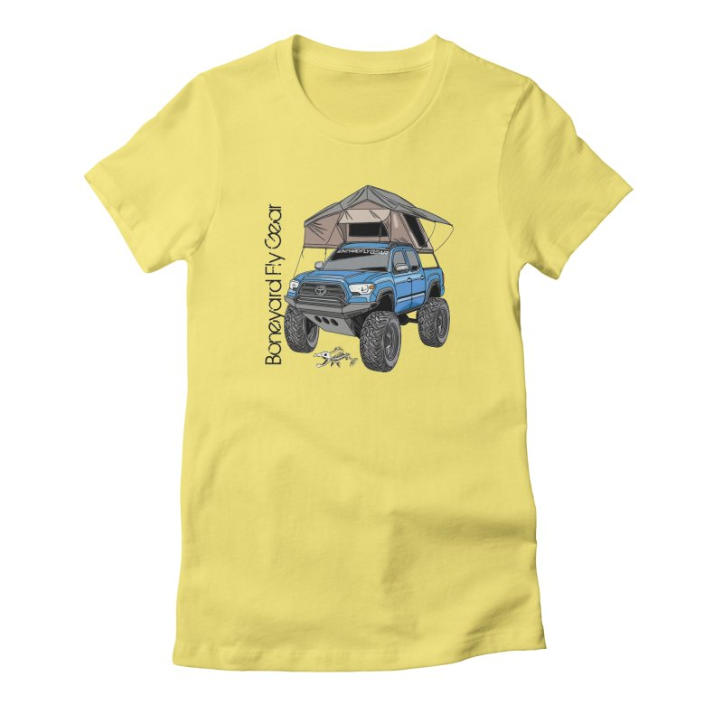 Toyota Tacoma Overlander Women's Fitted T-Shirt by Boneyard Studio - Boneyard Fly Gear