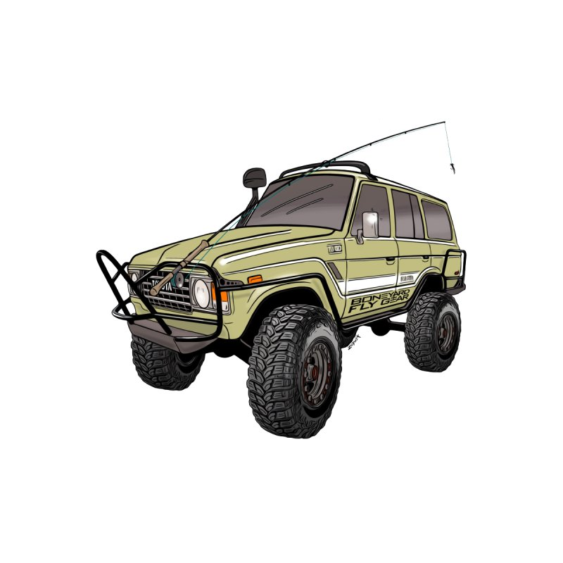 Toyota FJ60 Adventure Rig Men's T-Shirt by Boneyard Studio - Boneyard Fly Gear