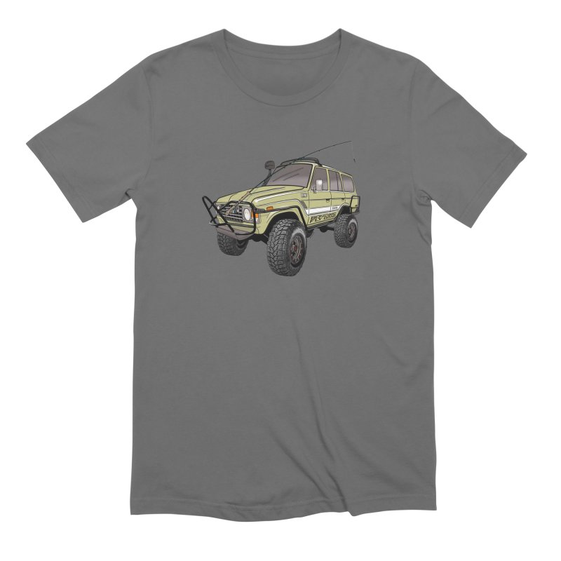 Toyota FJ60 Adventure Rig Men's Extra Soft T-Shirt by Boneyard Studio - Boneyard Fly Gear