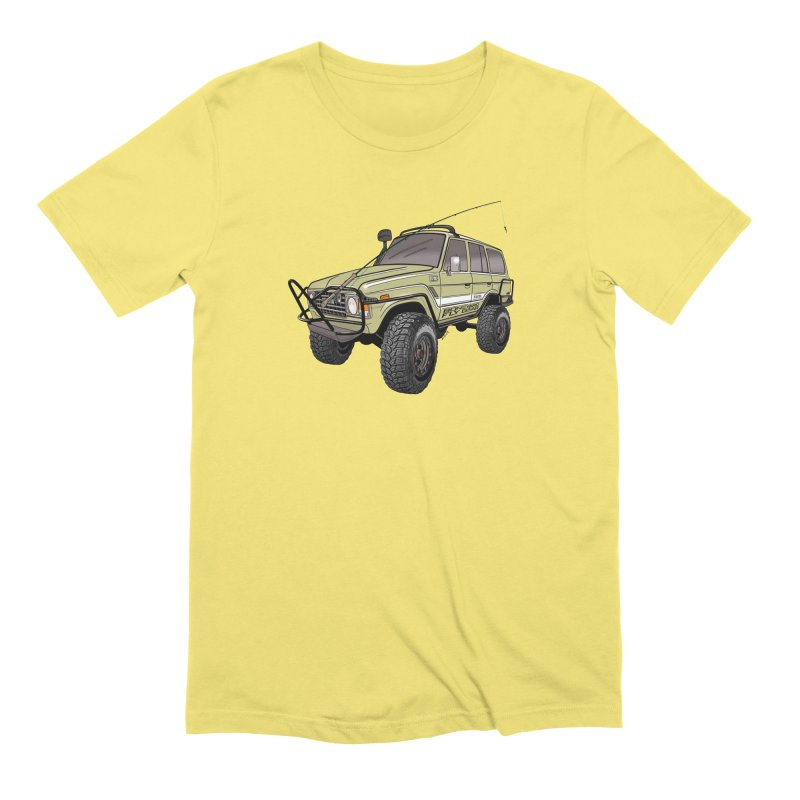 Toyota FJ60 Adventure Rig Men's Extra Soft T-Shirt by Boneyard Studio - Boneyard Fly Gear