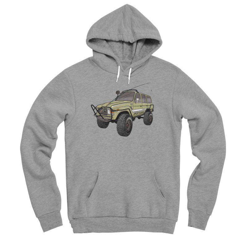 Toyota FJ60 Adventure Rig Men's Sponge Fleece Pullover Hoody by Boneyard Studio - Boneyard Fly Gear