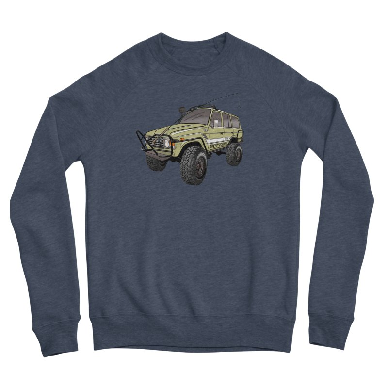 Toyota FJ60 Adventure Rig Men's Sponge Fleece Sweatshirt by Boneyard Studio - Boneyard Fly Gear