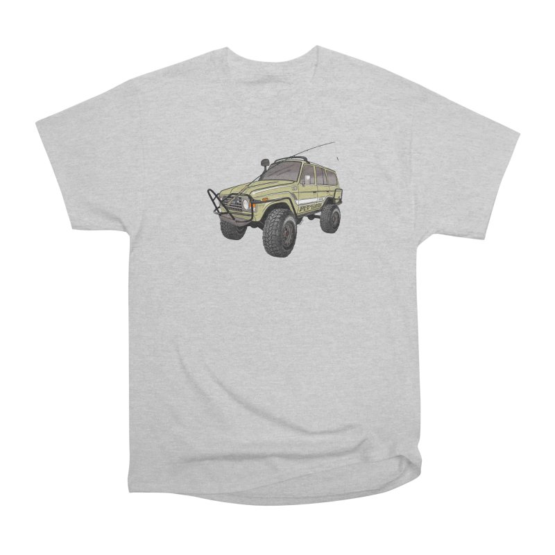 Toyota FJ60 Adventure Rig Men's Heavyweight T-Shirt by Boneyard Studio - Boneyard Fly Gear