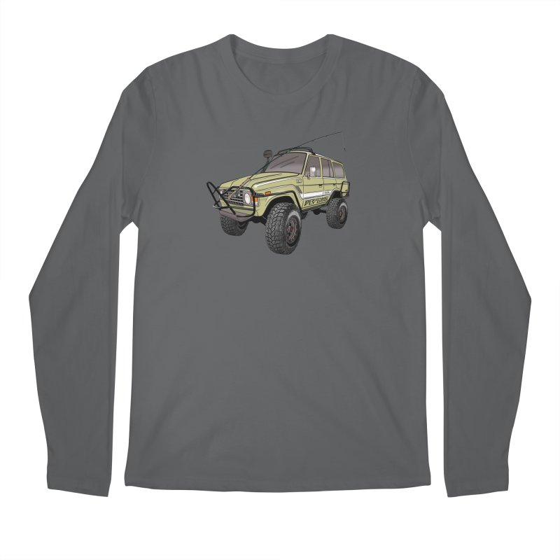 Toyota FJ60 Adventure Rig Men's Longsleeve T-Shirt by Boneyard Studio - Boneyard Fly Gear