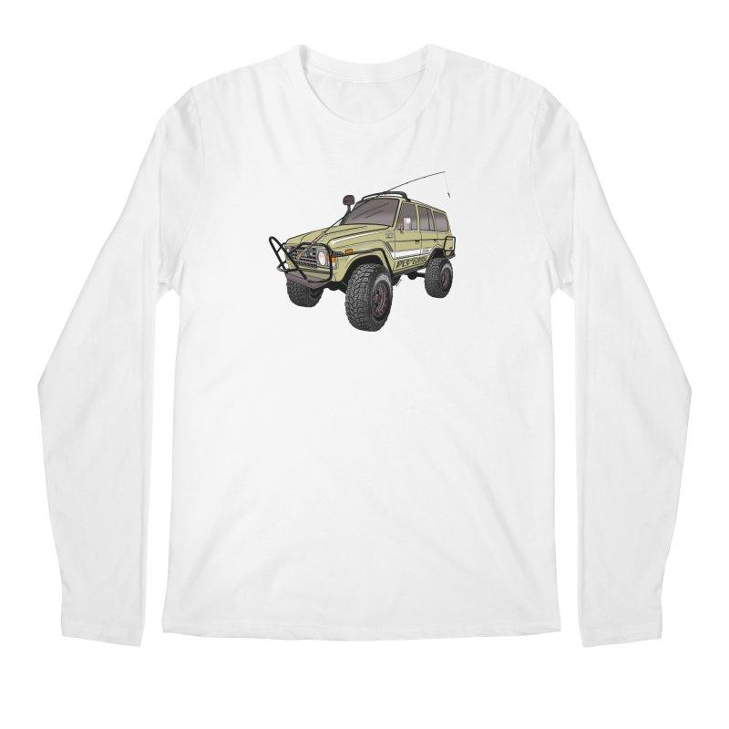 Toyota FJ60 Adventure Rig Men's Regular Longsleeve T-Shirt by Boneyard Studio - Boneyard Fly Gear