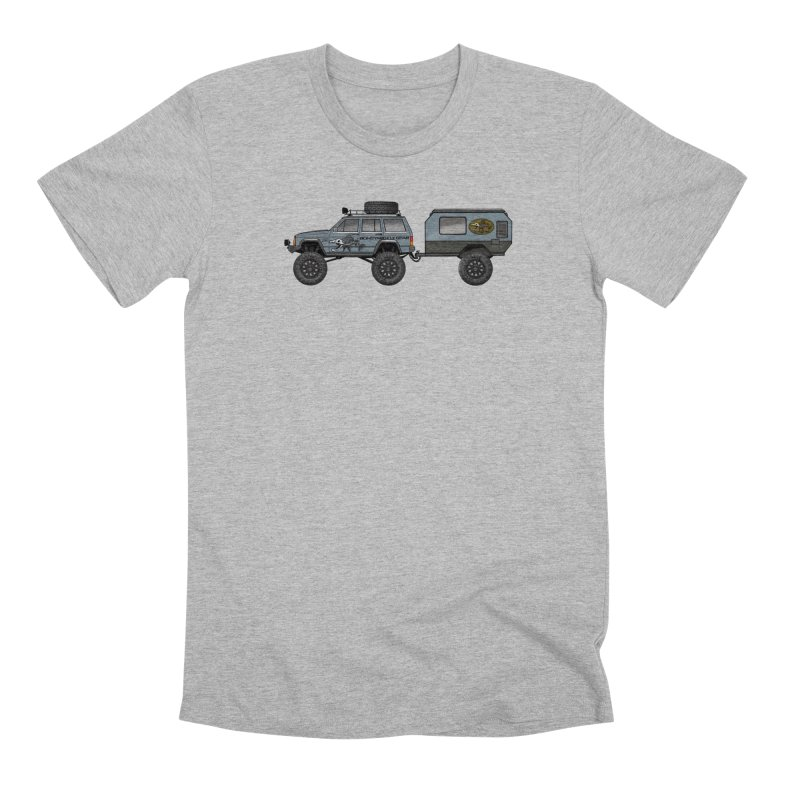 Jeep XJ Overlander Adventure Rig Men's T-Shirt by Boneyard Studio - Boneyard Fly Gear
