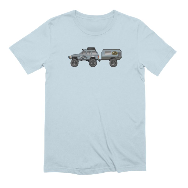 Jeep XJ Overlander Adventure Rig Men's Extra Soft T-Shirt by Boneyard Studio - Boneyard Fly Gear