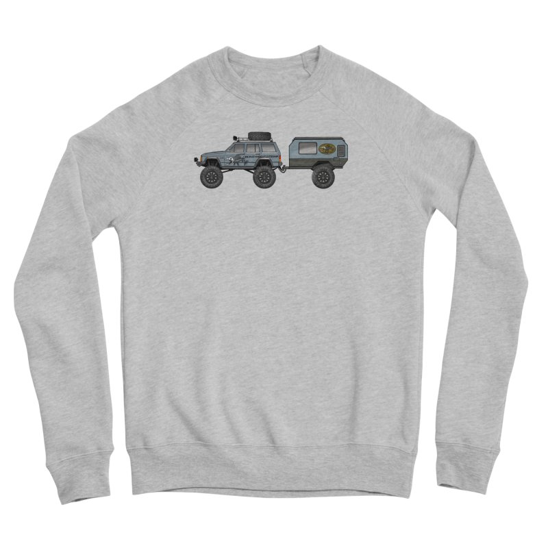 Jeep XJ Overlander Adventure Rig Men's Sponge Fleece Sweatshirt by Boneyard Studio - Boneyard Fly Gear