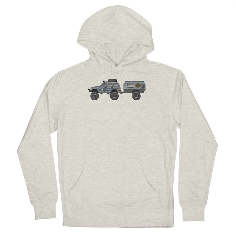 Jeep XJ Overlander Adventure Rig Men's Pullover Hoody by Boneyard Studio - Boneyard Fly Gear