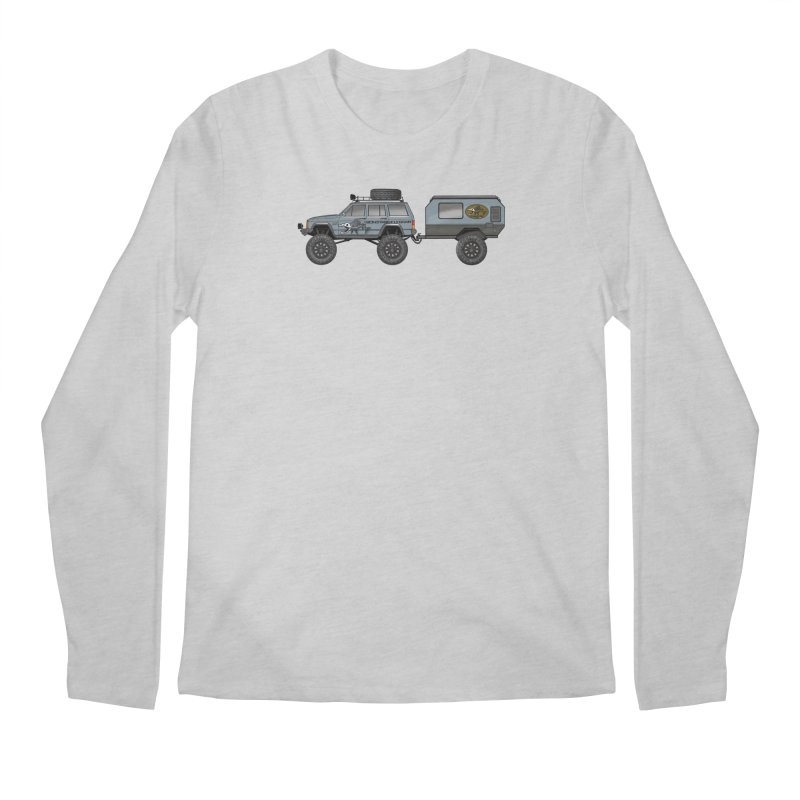 Jeep XJ Overlander Adventure Rig Men's Regular Longsleeve T-Shirt by Boneyard Studio - Boneyard Fly Gear