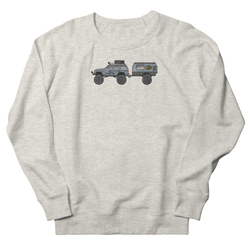 Jeep XJ Overlander Adventure Rig Men's Sweatshirt by Boneyard Studio - Boneyard Fly Gear