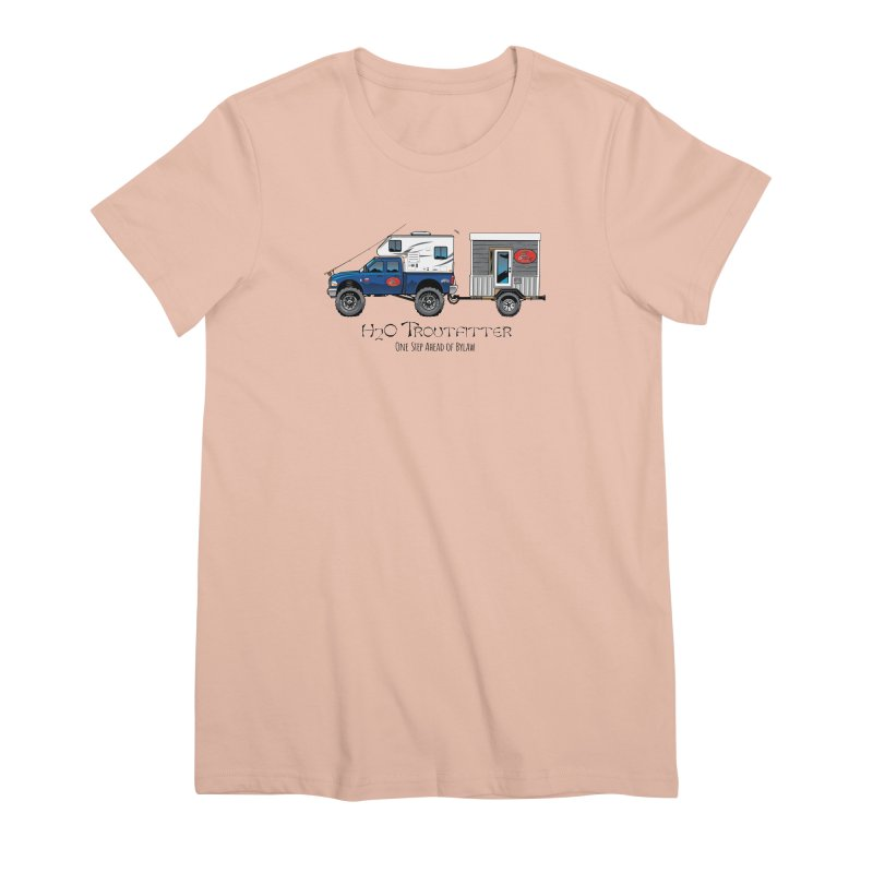 H2O Troutfitter Traveling Fly Shop Women's Premium T-Shirt by Boneyard Studio - Boneyard Fly Gear