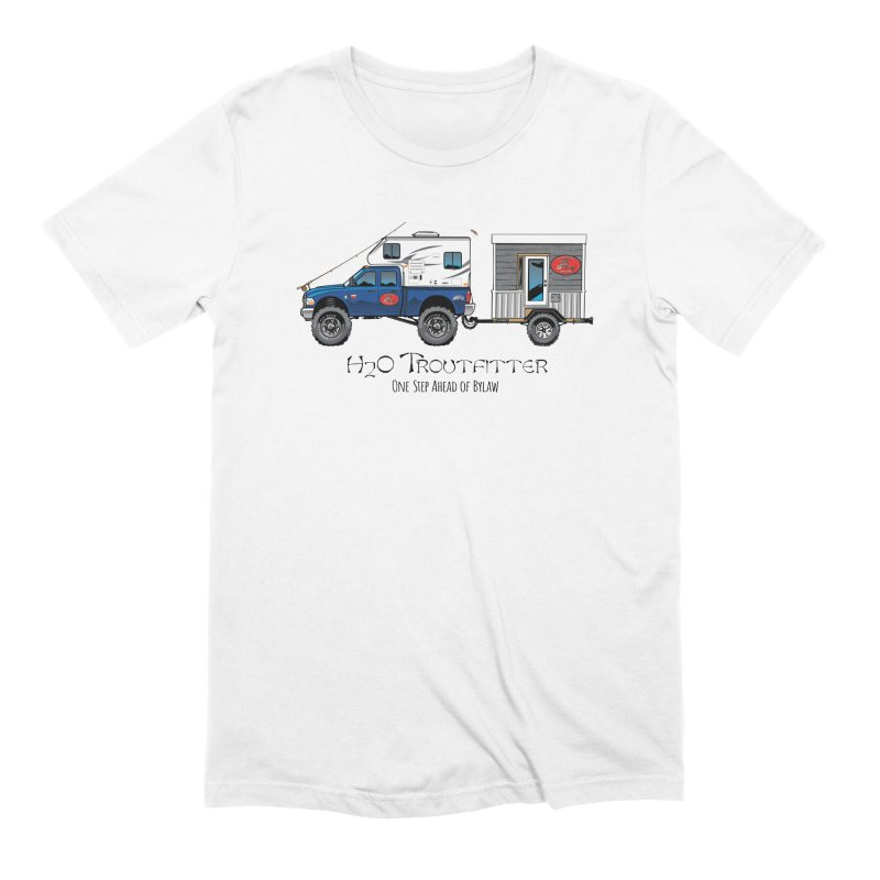 H2O Troutfitter Traveling Fly Shop Men's Extra Soft T-Shirt by Boneyard Studio - Boneyard Fly Gear