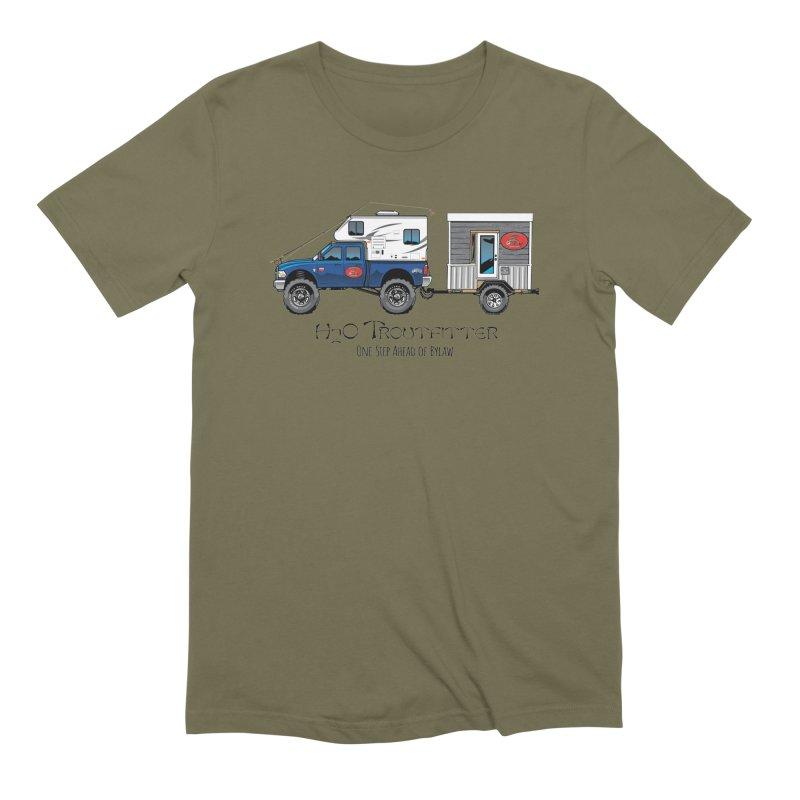 H2O Troutfitter Traveling Fly Shop Men's Extra Soft T-Shirt by Boneyard Studio - Boneyard Fly Gear