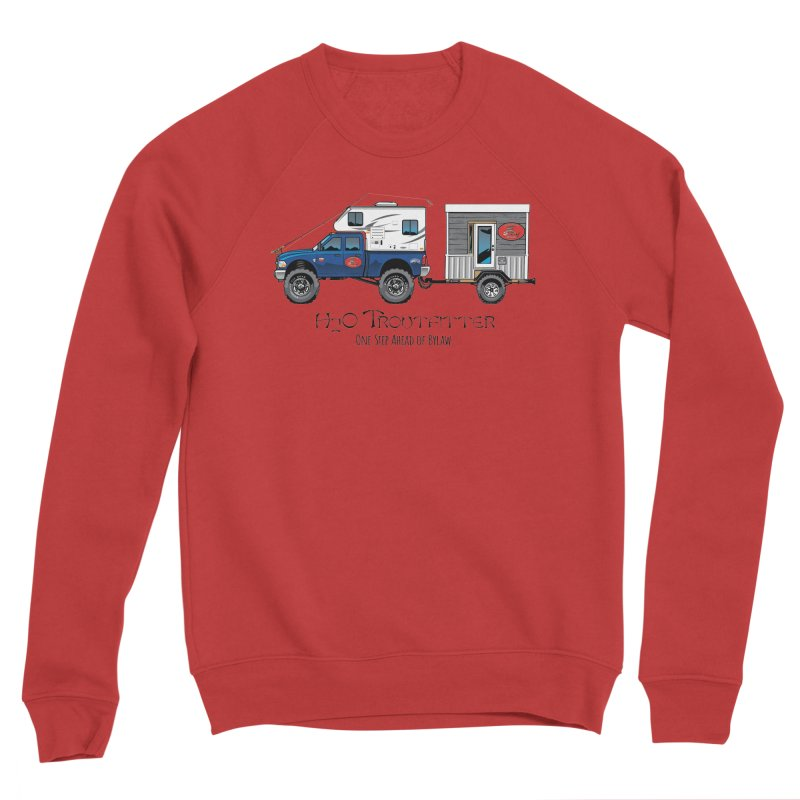 H2O Troutfitter Traveling Fly Shop Men's Sponge Fleece Sweatshirt by Boneyard Studio - Boneyard Fly Gear