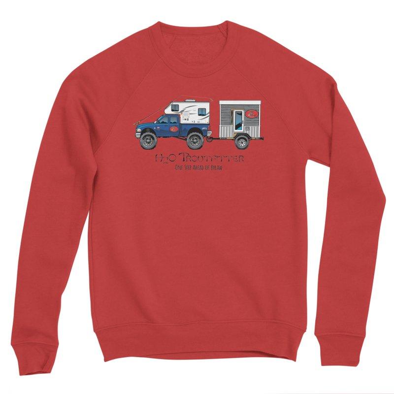 H2O Troutfitter Traveling Fly Shop Women's Sponge Fleece Sweatshirt by Boneyard Studio - Boneyard Fly Gear