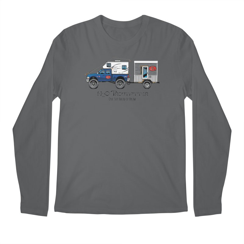 H2O Troutfitter Traveling Fly Shop Men's Longsleeve T-Shirt by Boneyard Studio - Boneyard Fly Gear