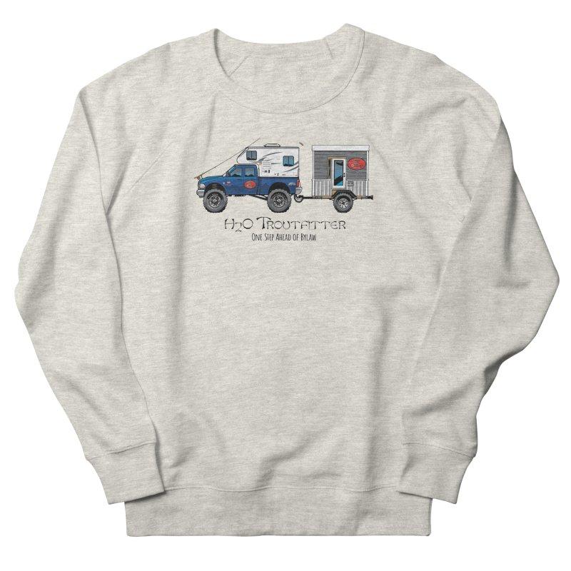 H2O Troutfitter Traveling Fly Shop Men's Sweatshirt by Boneyard Studio - Boneyard Fly Gear