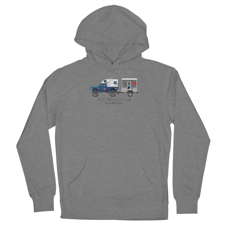 H2O Troutfitter Traveling Fly Shop Women's French Terry Pullover Hoody by Boneyard Studio - Boneyard Fly Gear