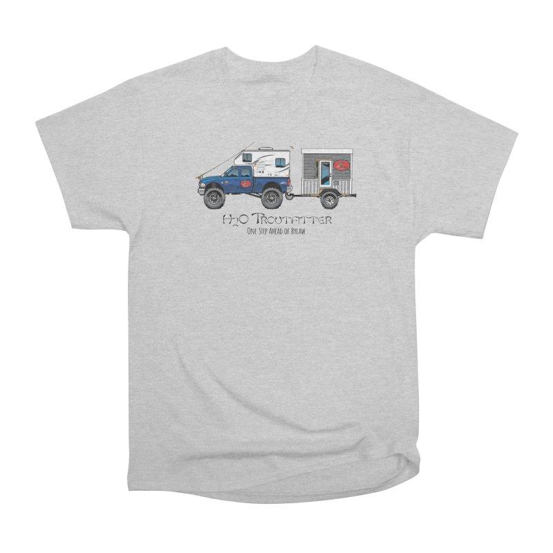 H2O Troutfitter Traveling Fly Shop Women's T-Shirt by Boneyard Studio - Boneyard Fly Gear