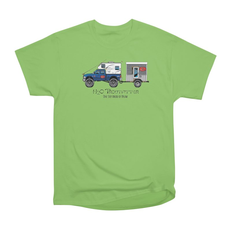H2O Troutfitter Traveling Fly Shop Women's Heavyweight Unisex T-Shirt by Boneyard Studio - Boneyard Fly Gear