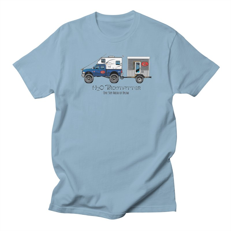 H2O Troutfitter Traveling Fly Shop Women's Regular Unisex T-Shirt by Boneyard Studio - Boneyard Fly Gear