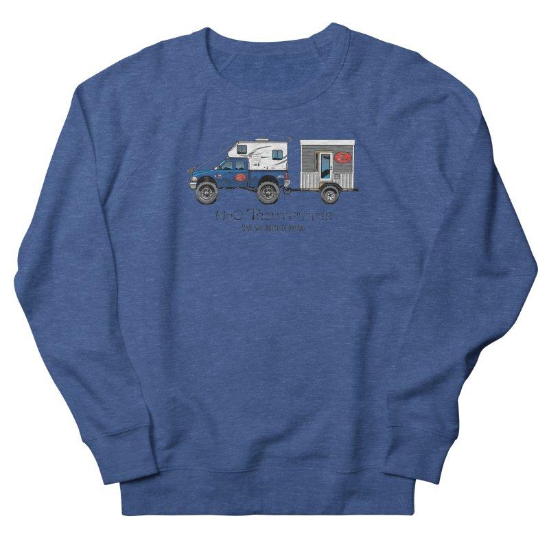 H2O Troutfitter Traveling Fly Shop Women's French Terry Sweatshirt by Boneyard Studio - Boneyard Fly Gear