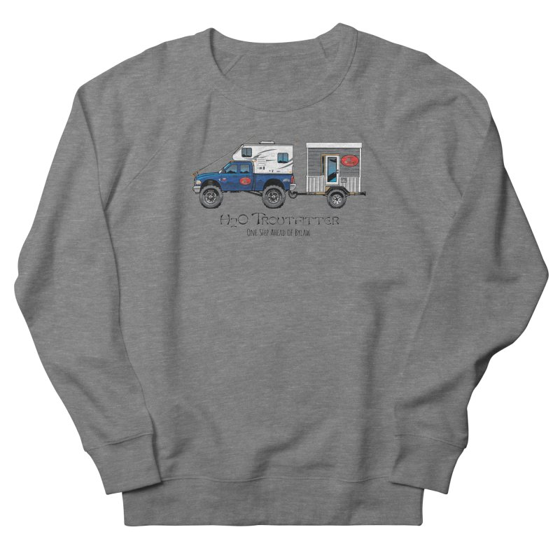 H2O Troutfitter Traveling Fly Shop Women's Sweatshirt by Boneyard Studio - Boneyard Fly Gear