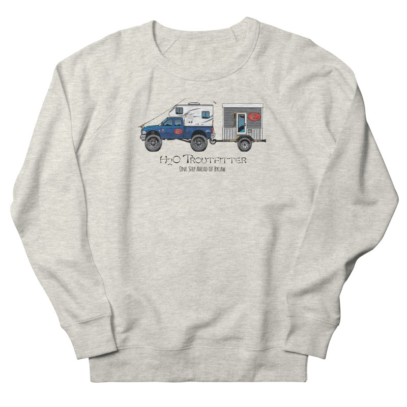H2O Troutfitter Traveling Fly Shop Men's Sweatshirt by Boneyard Studio - Boneyard Fly Gear