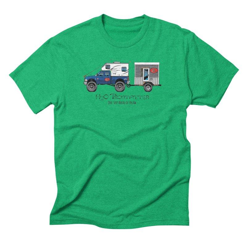 H2O Troutfitter Traveling Fly Shop Men's Triblend T-Shirt by Boneyard Studio - Boneyard Fly Gear