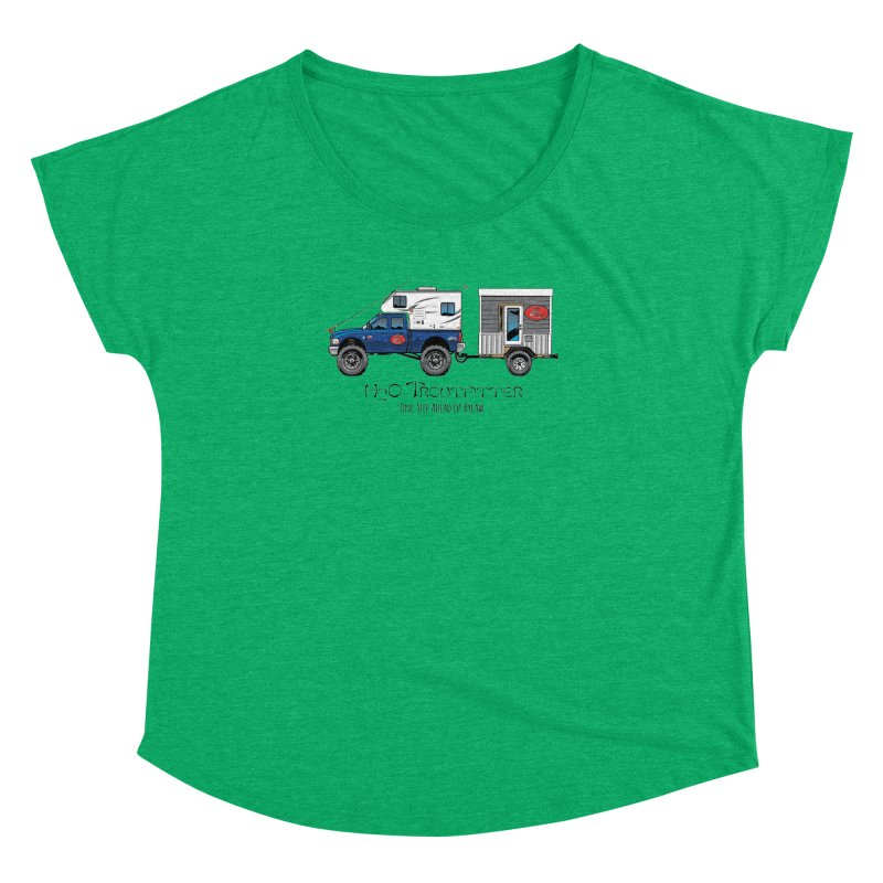 H2O Troutfitter Traveling Fly Shop Women's Dolman Scoop Neck by Boneyard Studio - Boneyard Fly Gear