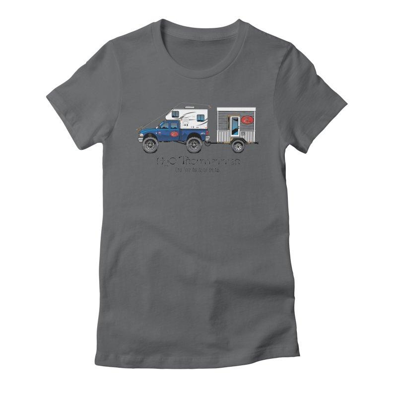 H2O Troutfitter Traveling Fly Shop Women's Fitted T-Shirt by Boneyard Studio - Boneyard Fly Gear
