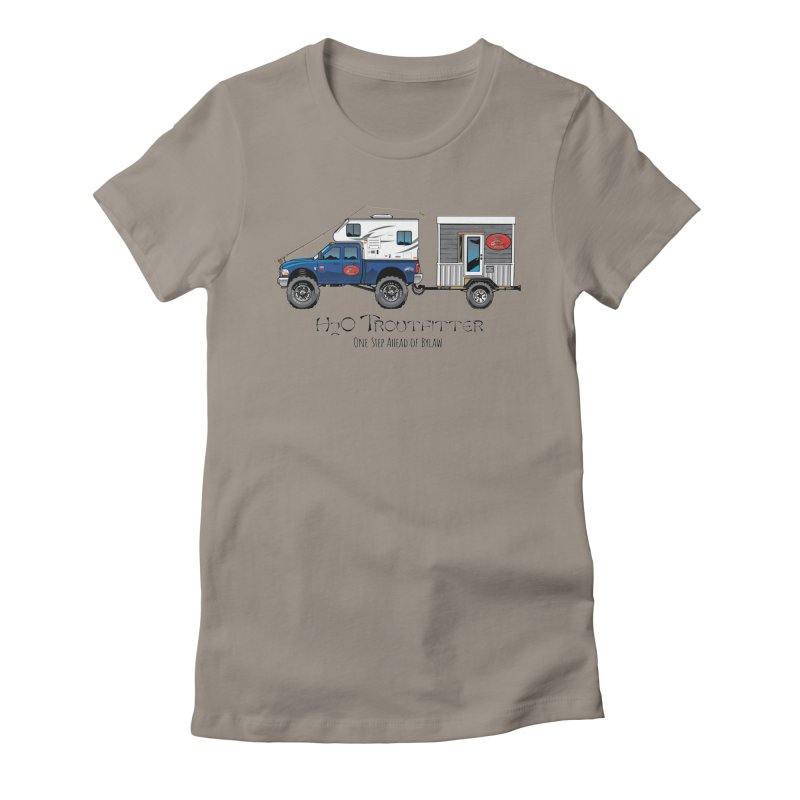 H2O Troutfitter Traveling Fly Shop Women's T-Shirt by Boneyard Studio - Boneyard Fly Gear