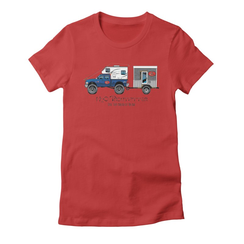 H2O Troutfitter Traveling Fly Shop Women's Fitted T-Shirt by Boneyard Studio - Boneyard Fly Gear