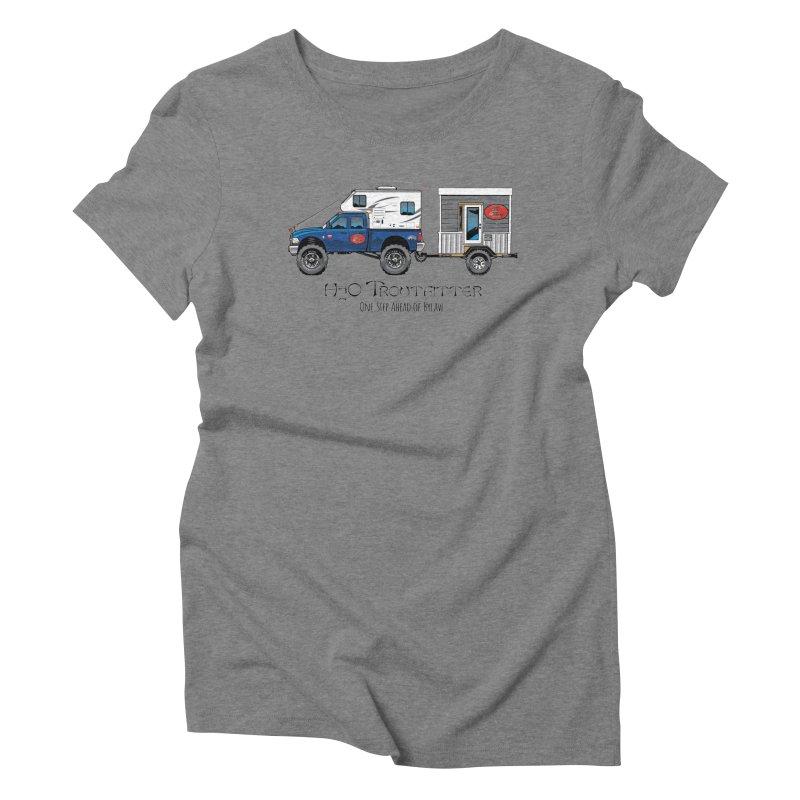 H2O Troutfitter Traveling Fly Shop Women's Triblend T-Shirt by Boneyard Studio - Boneyard Fly Gear