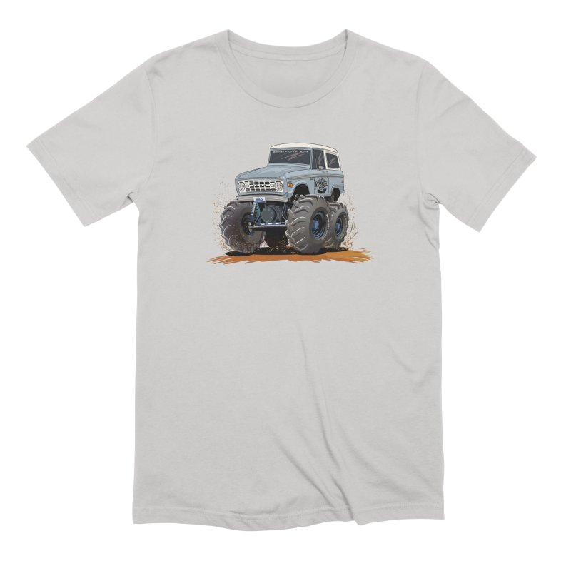 Smokey Brew Bronco Men's Extra Soft T-Shirt by Boneyard Studio - Boneyard Fly Gear