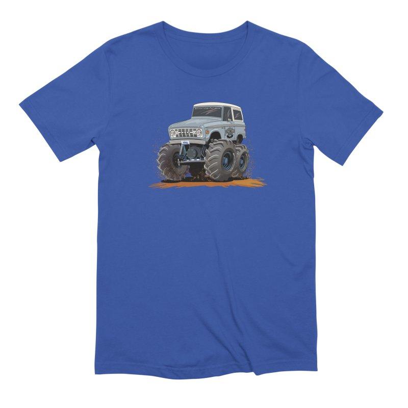 Smokey Brew Bronco Men's Extra Soft T-Shirt by Boneyard Studio - Boneyard Fly Gear