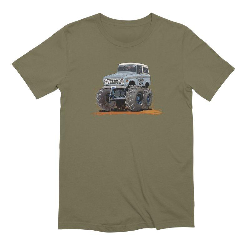 Smokey Brew Bronco in Men's Extra Soft T-Shirt Olive by Boneyard Studio - Boneyard Fly Gear