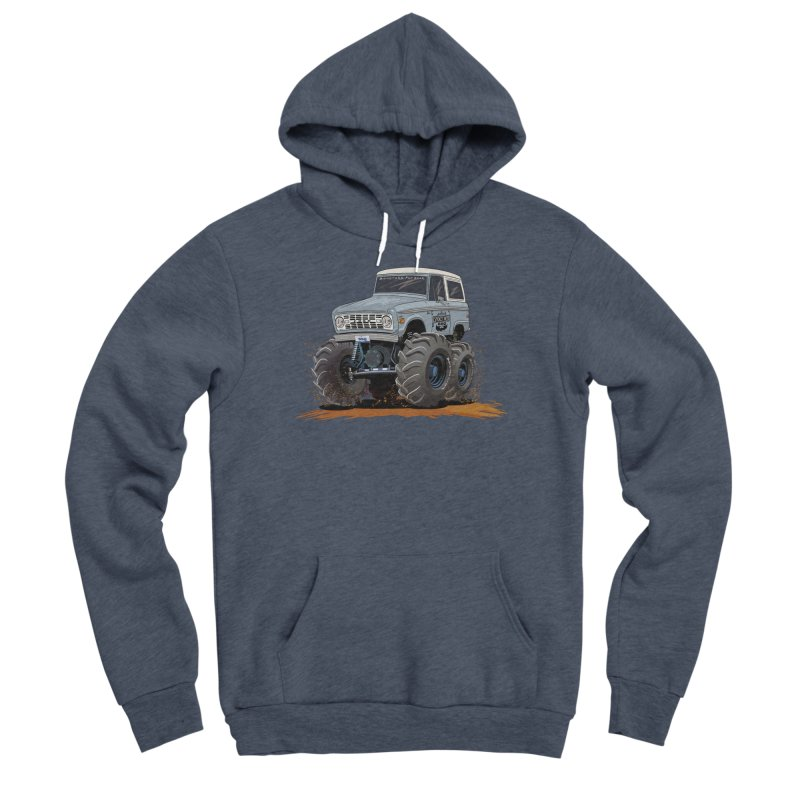 Smokey Brew Bronco Men's Sponge Fleece Pullover Hoody by Boneyard Studio - Boneyard Fly Gear