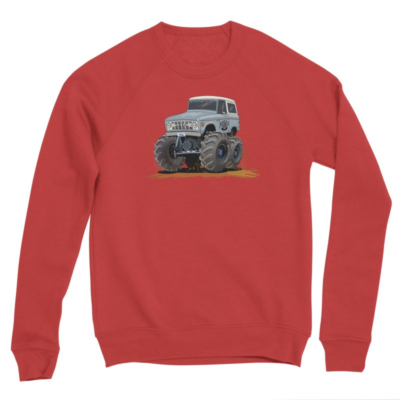 Smokey Brew Bronco Men's Sponge Fleece Sweatshirt by Boneyard Studio - Boneyard Fly Gear