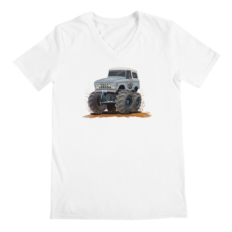 Smokey Brew Bronco Men's V-Neck by Boneyard Studio - Boneyard Fly Gear