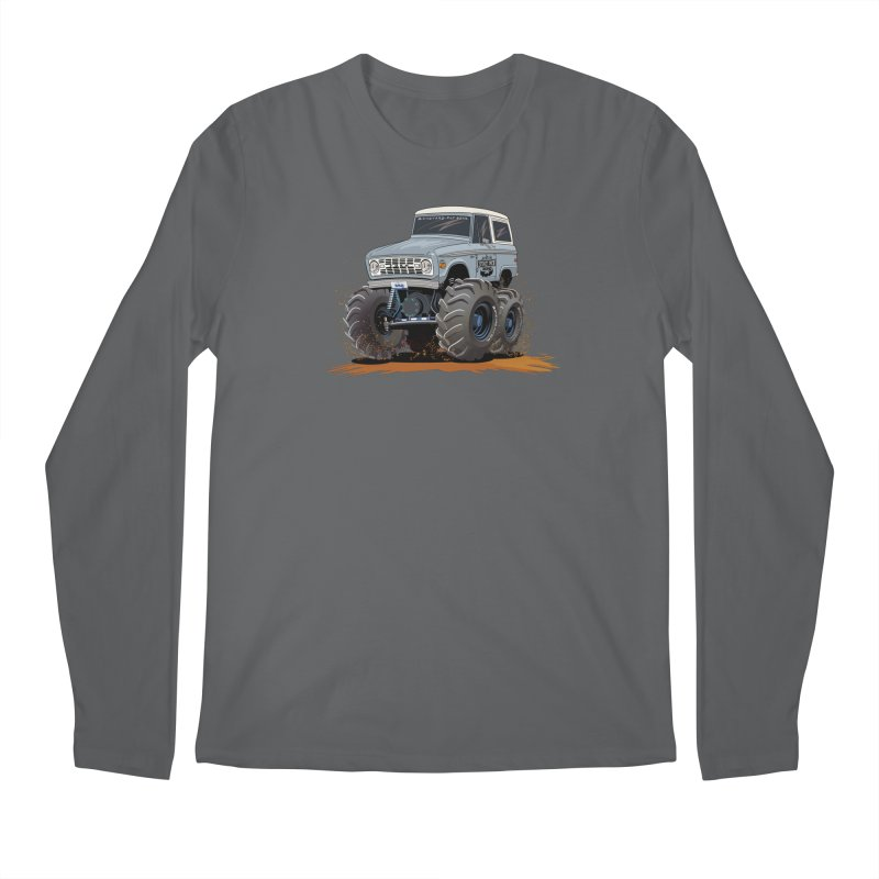 Smokey Brew Bronco Men's Longsleeve T-Shirt by Boneyard Studio - Boneyard Fly Gear