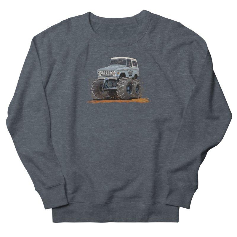 Smokey Brew Bronco Men's French Terry Sweatshirt by Boneyard Studio - Boneyard Fly Gear