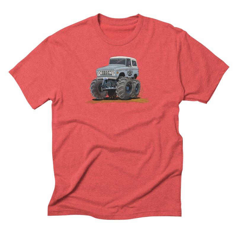 Smokey Brew Bronco Men's Triblend T-Shirt by Boneyard Studio - Boneyard Fly Gear