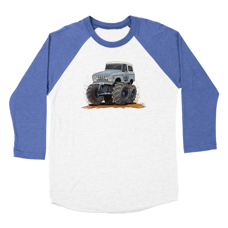 Smokey Brew Bronco Men's Baseball Triblend Longsleeve T-Shirt by Boneyard Studio - Boneyard Fly Gear