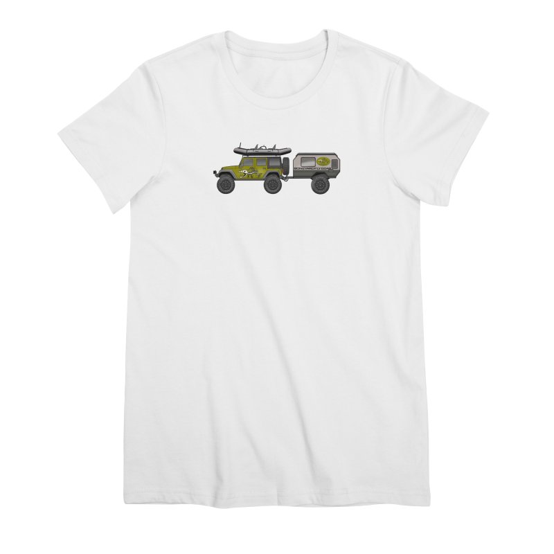 Jeep JK Adventure Rig Women's T-Shirt by Boneyard Studio - Boneyard Fly Gear