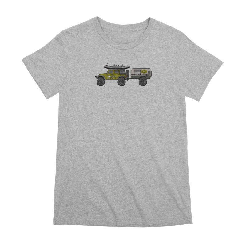 Jeep JK Adventure Rig Women's Premium T-Shirt by Boneyard Studio - Boneyard Fly Gear